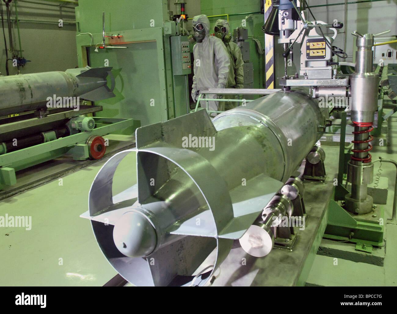 Ersten Bauabschnitt abgeschlossen auf chemische Waffen Vernichtungsanlage in Kirow Stockbild