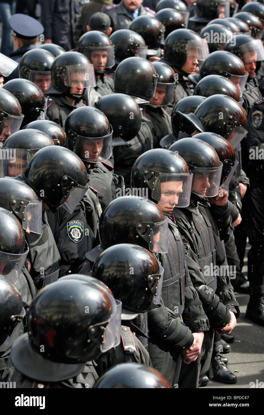 Ukraine-Opposition Rallye in der Nähe von Verfassungsgericht Stockbild