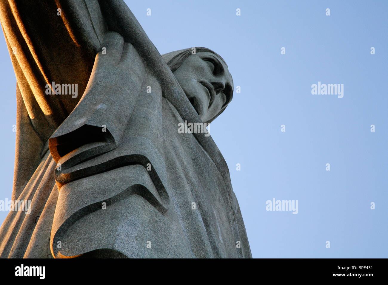 Die Statue von Christus dem Erlöser auf dem Corcovado-Berg. Rio De Janeiro, Brasilien. Stockbild
