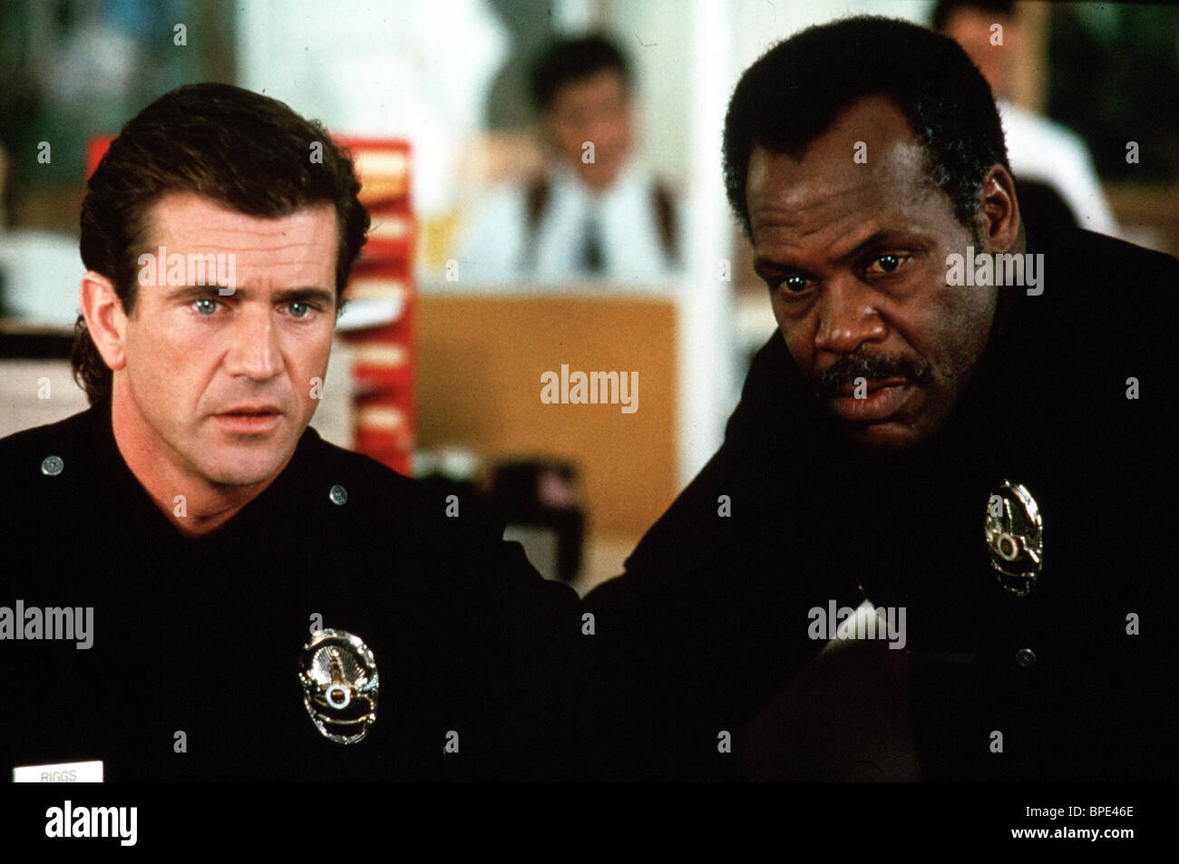 MEL GIBSON, Danny Glover, Lethal Weapon 3, 1992 Stockbild