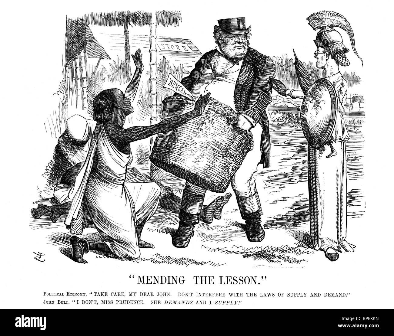 Punsch, einem britischen Wochenmagazin mit Humor und Satire, enthalten diese politische Karikatur im 20. Dezember Stockbild