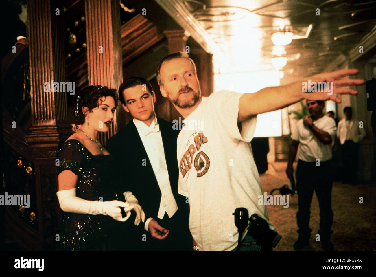 james cameron kate winslet titanic stockfotos amp james