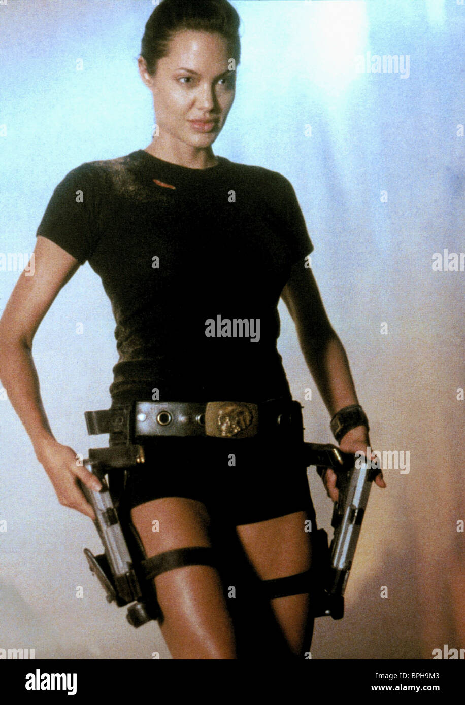 Angelina Jolie Lara Croft Tomb Raider 2001 Stockfoto Bild
