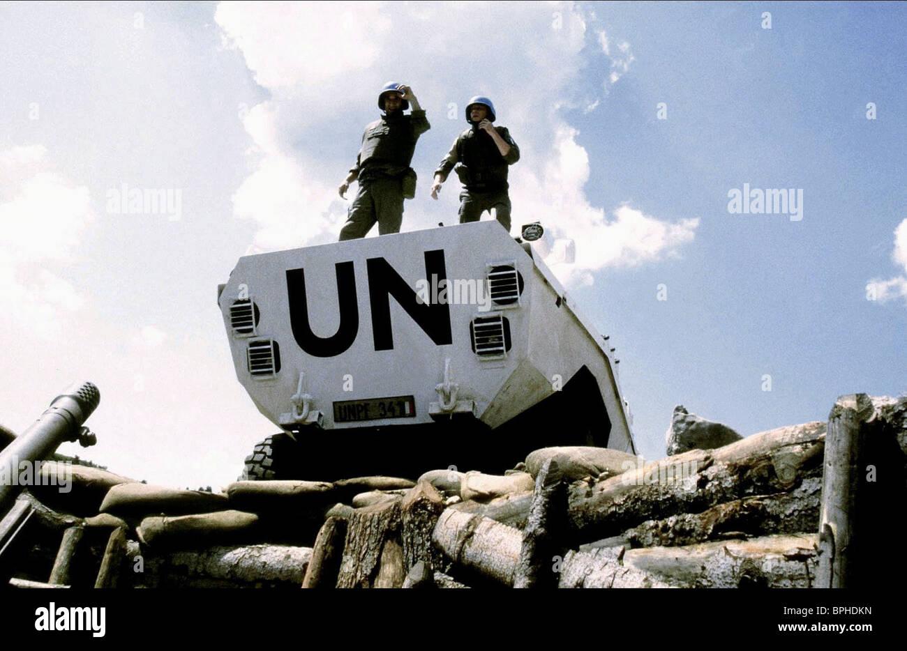 UNO SOLDATEN KEIN NIEMANDSLAND; (2001) Stockbild