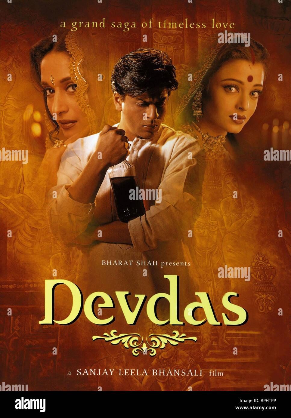 Madhuri Dixit Shahrukh Khan Aishwarya Rai Filmplakat Devdas 2002