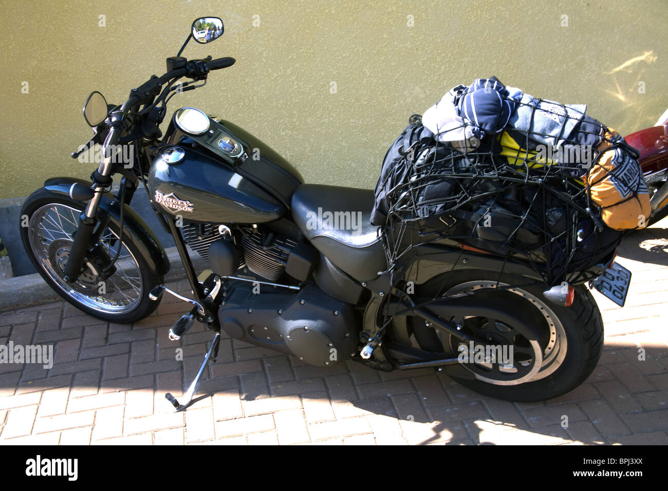 harley davidson motorrad verpackt mit gep ck f r die reise stockfoto bild 31131042 alamy. Black Bedroom Furniture Sets. Home Design Ideas