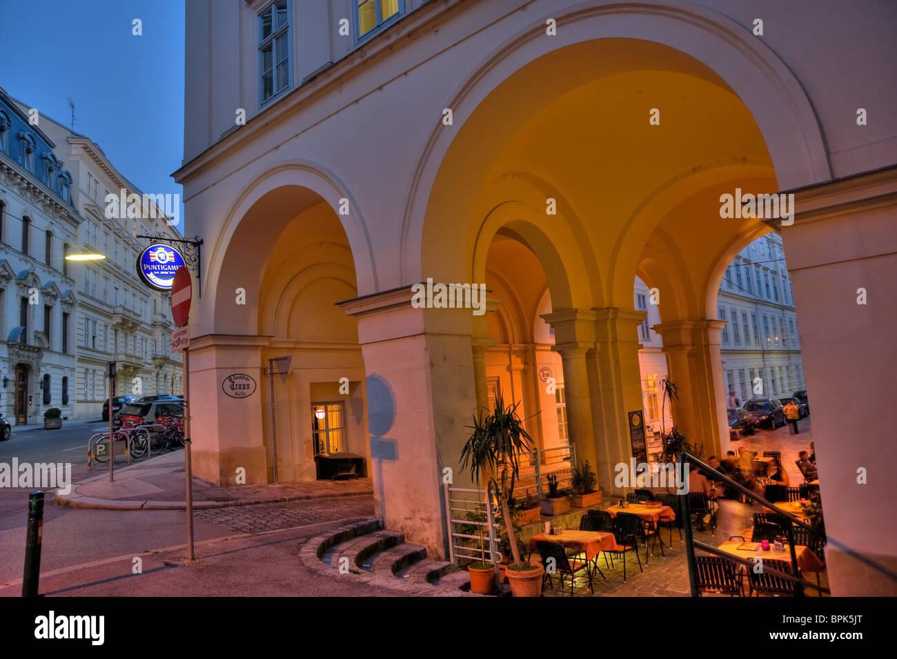 Wien, Abend Stockbild