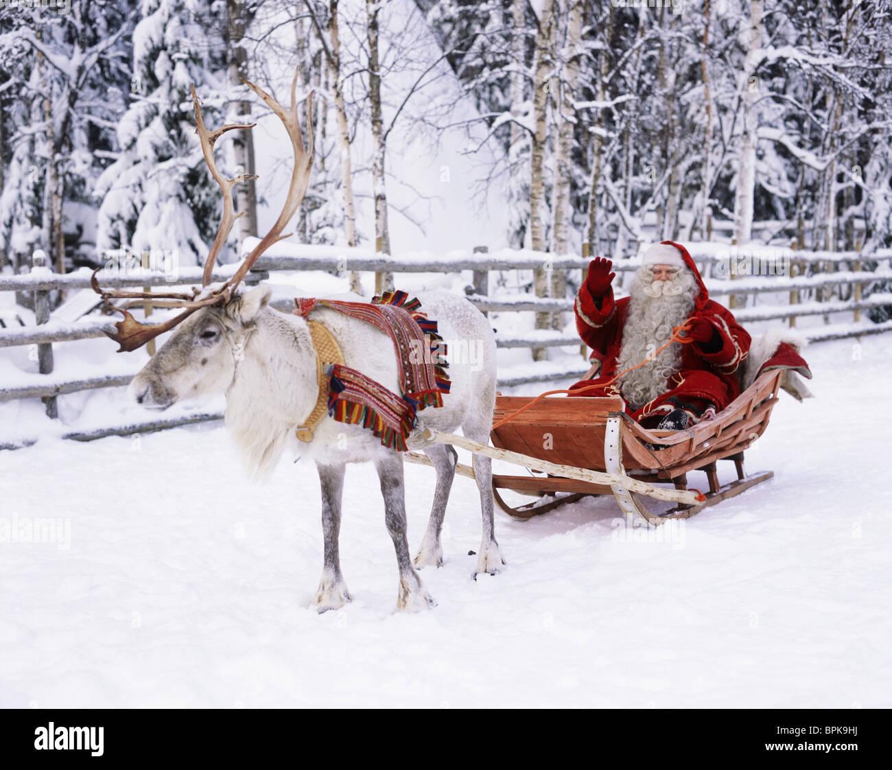 Santa Claus, Lappland, Finnland Stockbild