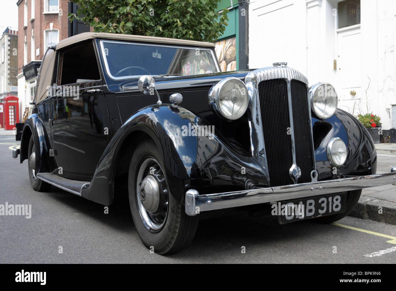 Dieses wunderbare Beispiel für eine Daimler-Verdeck, gesehen hier öffentlich ausgestellt, während Stockbild