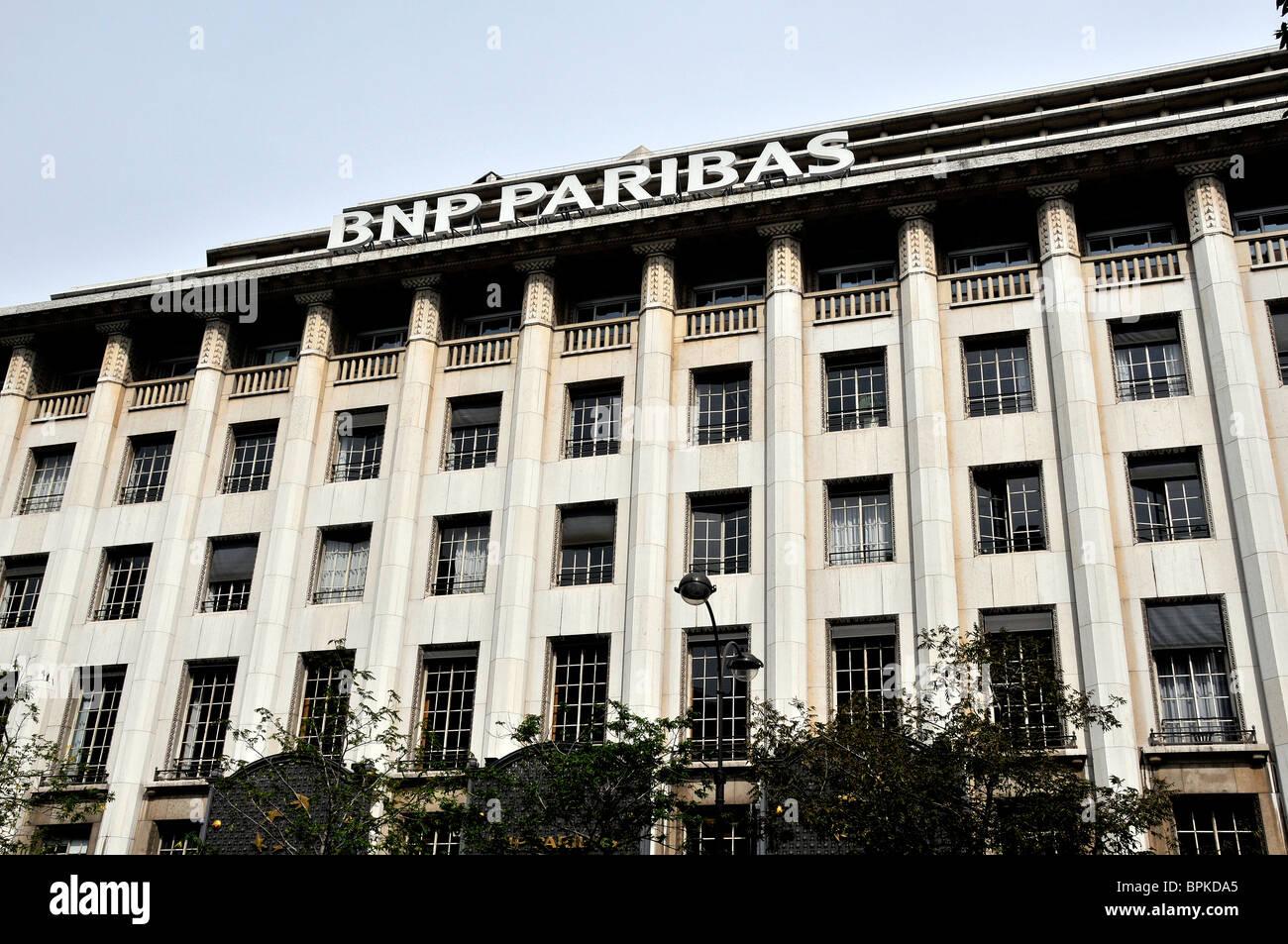 BNP PARIBAS Bank, Paris, Frankreich Stockbild
