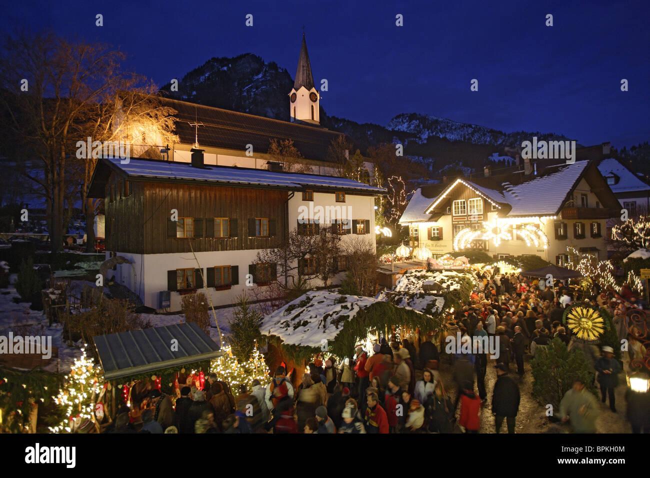 Bad Hindelang Weihnachtsmarkt.Weihnachtsmarkt In Bad Hindelang Allgau Schwaben Bayern