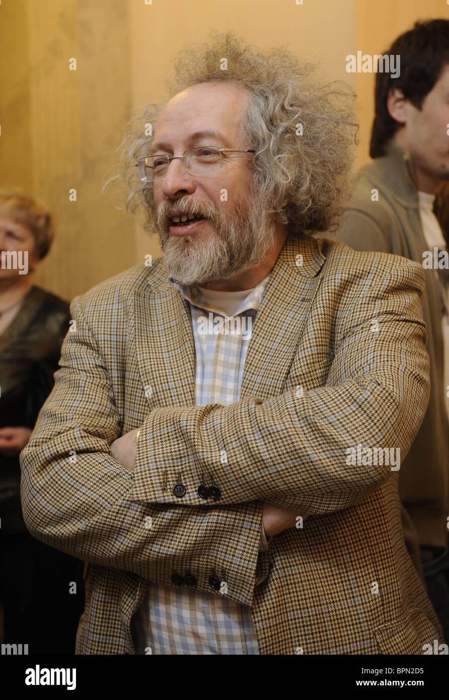 Jubiläums-Soiree Komiker Roman Kartsev Stockbild