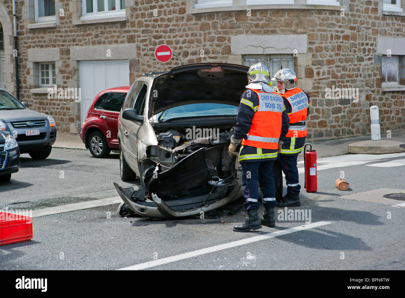 France Road Accident Stockfotos & France Road Accident Bilder - Alamy
