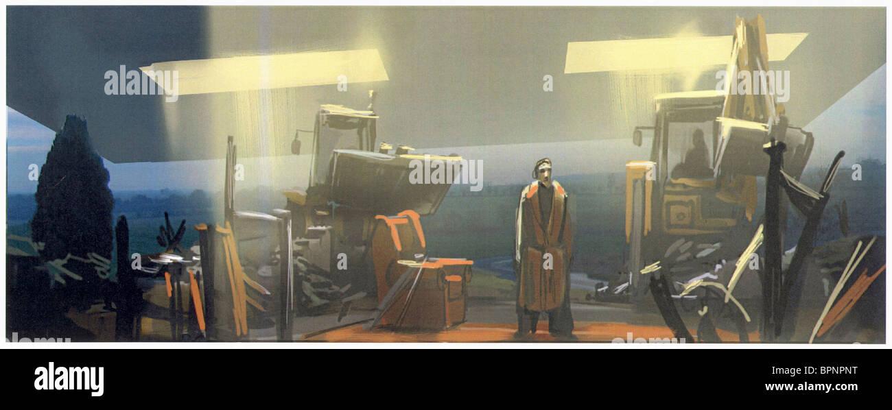 KONZEPTZEICHNUNG PER ANHALTER DURCH DIE GALAXIS (2005) Stockbild