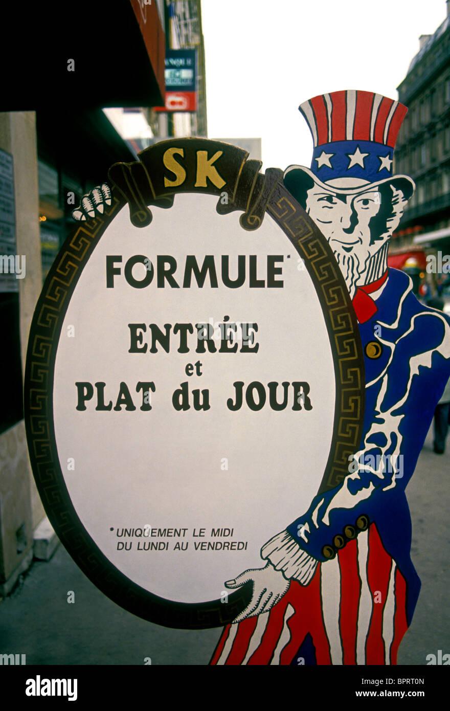 Zeichen, Menü, französisches Restaurant, Französisch Essen und ...