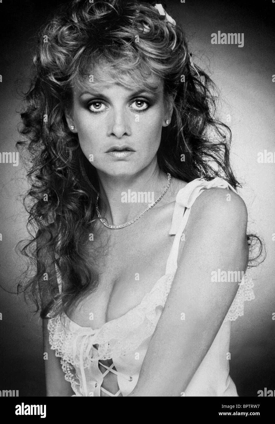 TWIGGY-MODELL (1985) Stockbild