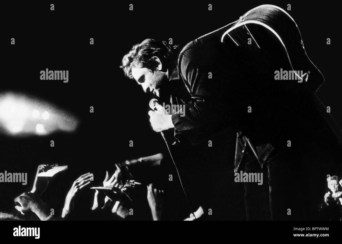 JOHNNY CASH COUNTRY-SÄNGER (1972) Stockbild