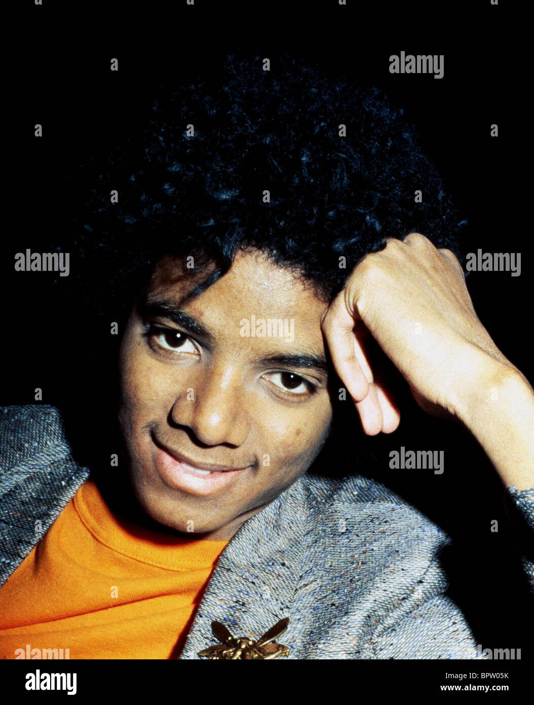 MICHAEL JACKSON POP STAR (1977) Stockbild