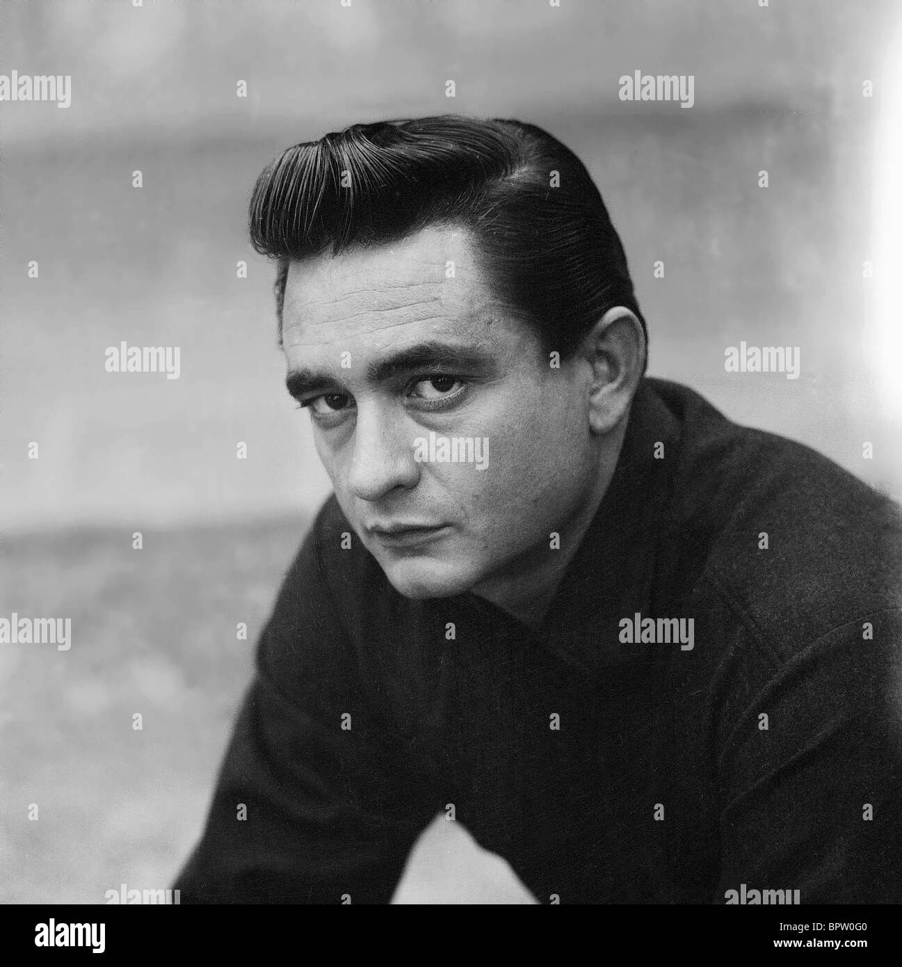 JOHNNY CASH COUNTRY-SÄNGER (1959) Stockbild