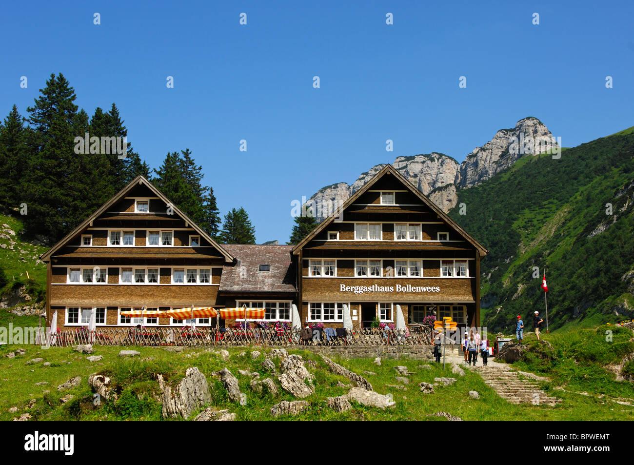Berggasthaus Bollenwees, Bruelisau, Kanton Appenzell Rhodes, Innerschweiz Stockbild