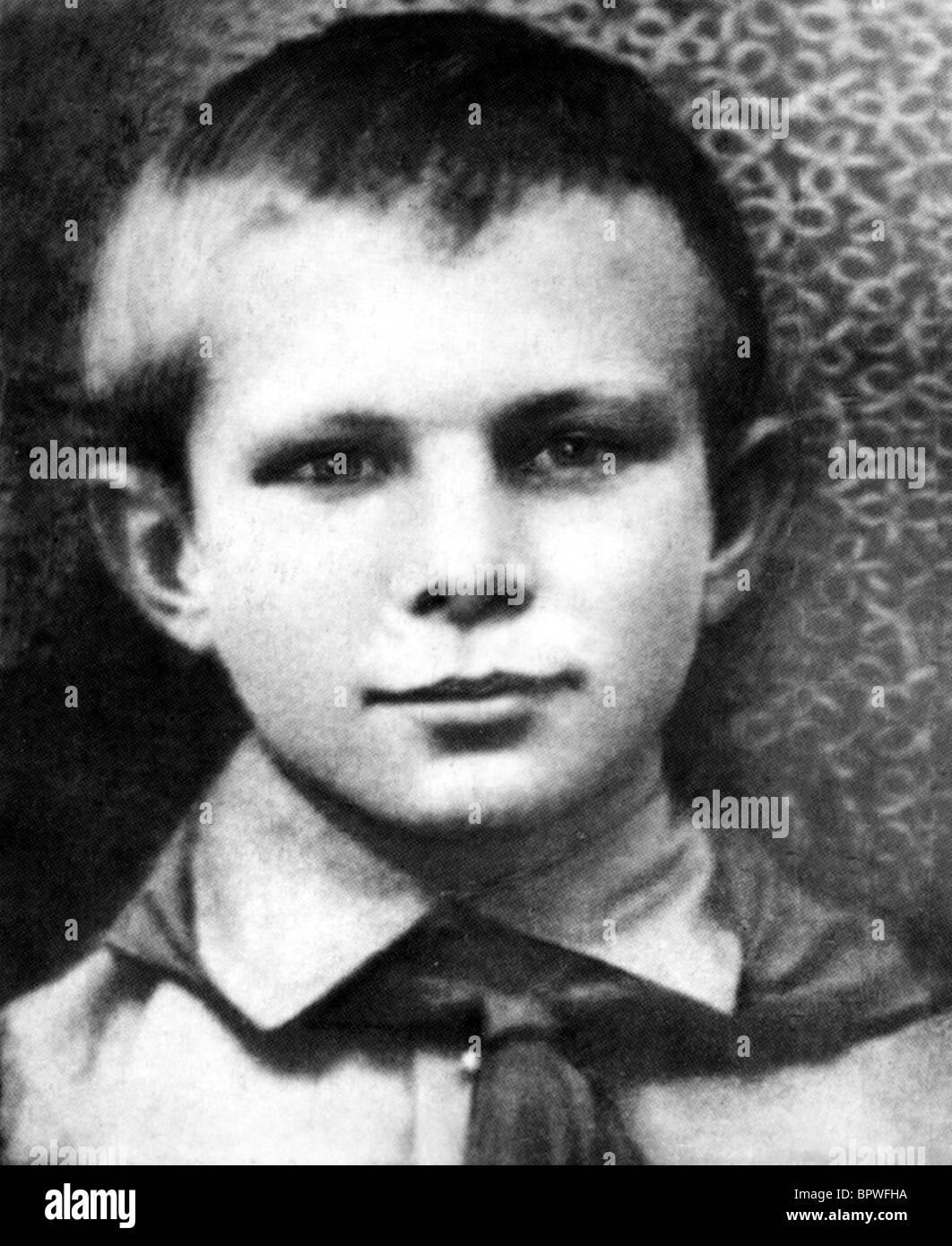 YURI GAGARIN 10 Jahre russische KOSMONAUTEN 16. Januar 1944 Stockbild