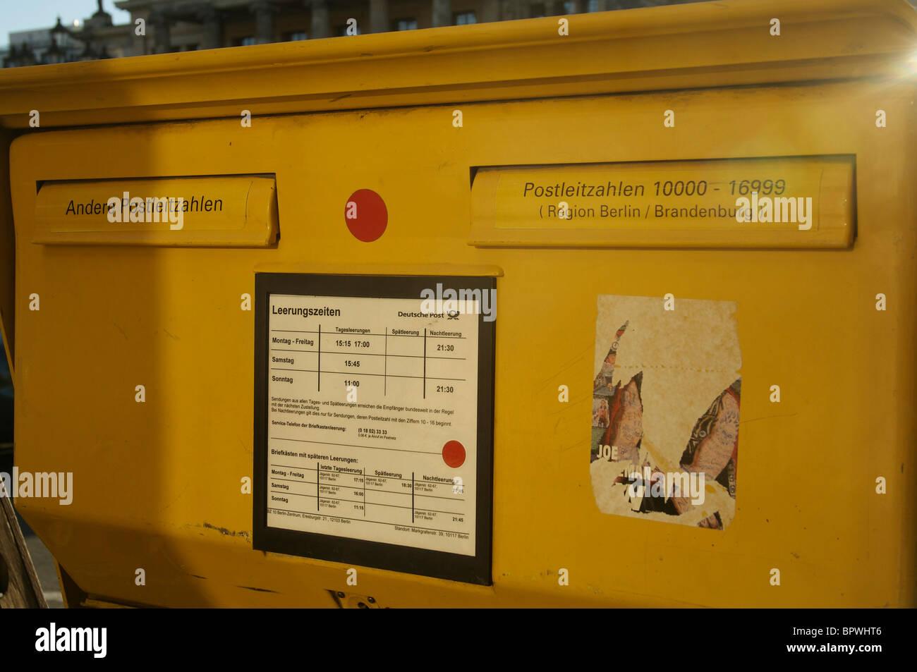 Nachtleerung Briefkasten Berlin