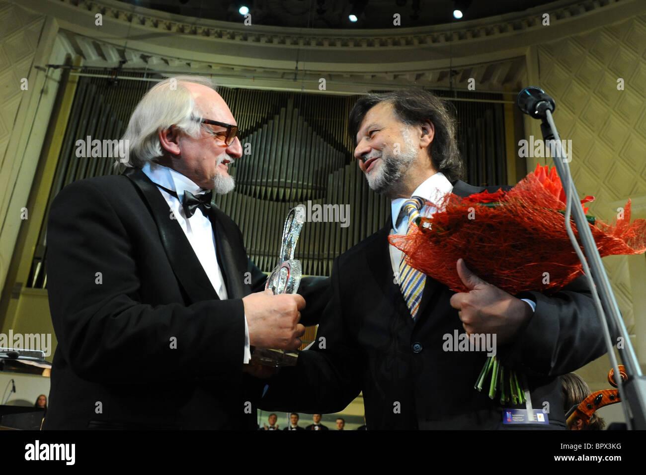 Soiree mit Komponist Gennady Gladkov Stockbild