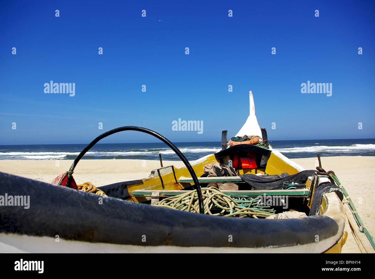 Portugiesische Fischerboot. Stockbild