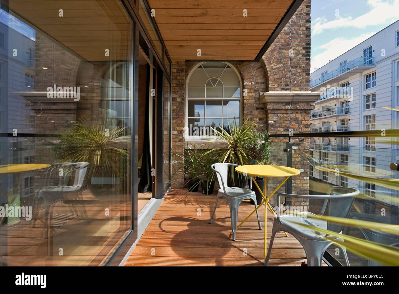Die Henson Apartments - ein Luxus-Wohn-Entwicklung benannt nach Jim Henson am Kanal in Camden in London. Stockbild