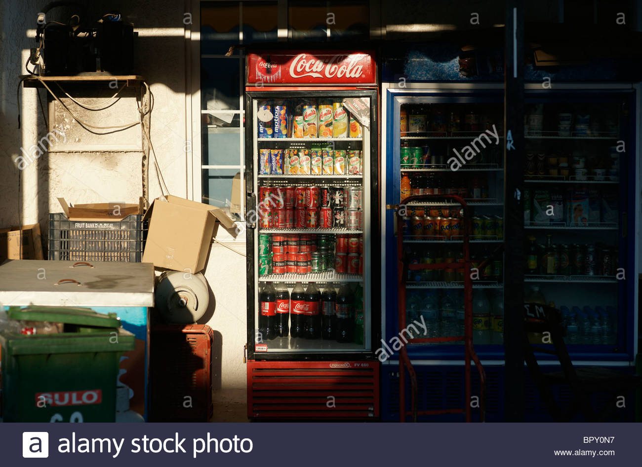 Griechenland, Coca Cola Soft Getränke Kühler Stockfoto, Bild ...