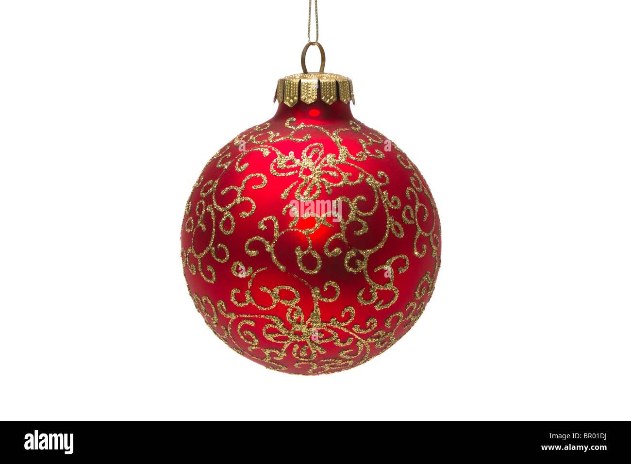 geblasenes glas weihnachts dekoration eine rote kugel. Black Bedroom Furniture Sets. Home Design Ideas
