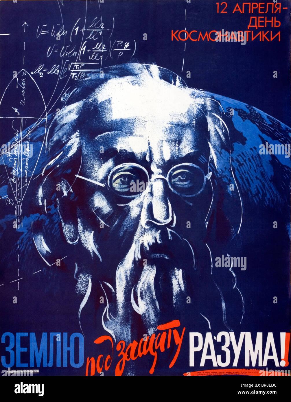 Sowjetischen Plakat Stockfoto