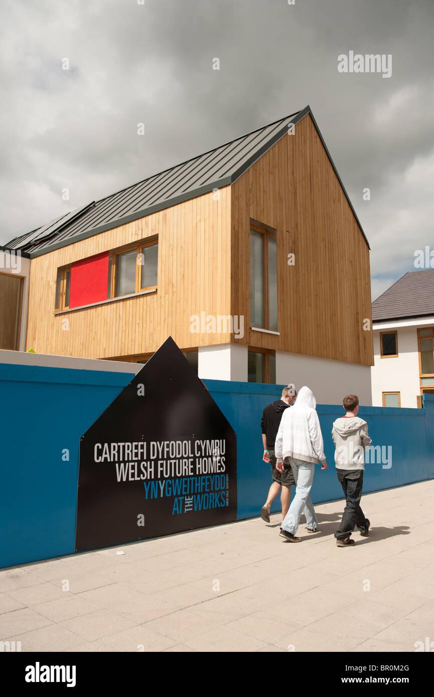 Welsh Zukunft Häuser Ausstellung in The Works, Ebbw Vale, South Wales UK Stockbild