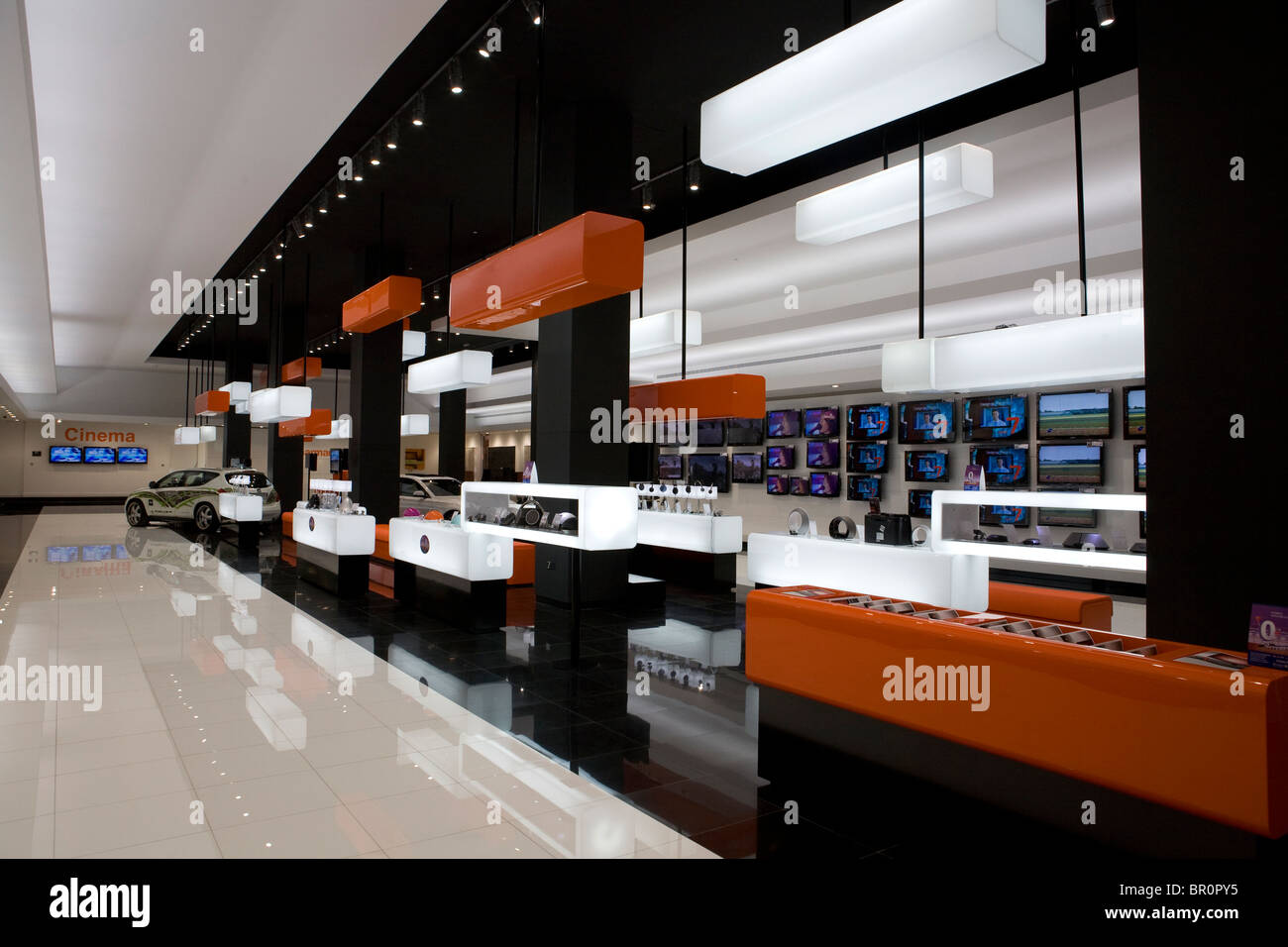 Moderne Design-Stil der ein elektronisches Geschäft im ...
