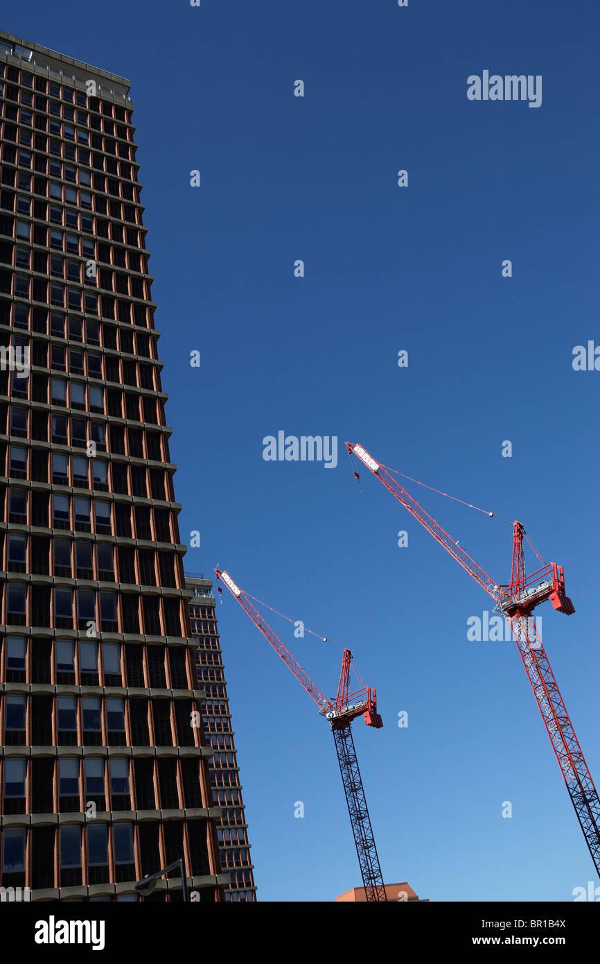 Der Bau eines Gebäudes in Boston. Stockbild
