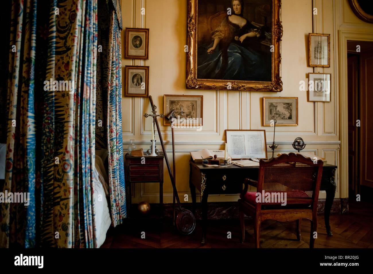 Frankreich In Historischen Schlafzimmer Französisch Denkmal