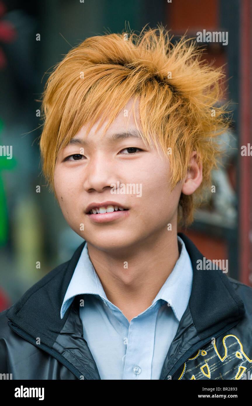 Aussen Friseursalon Chinesische Jugend Sport Trendige Frisur Xin Du
