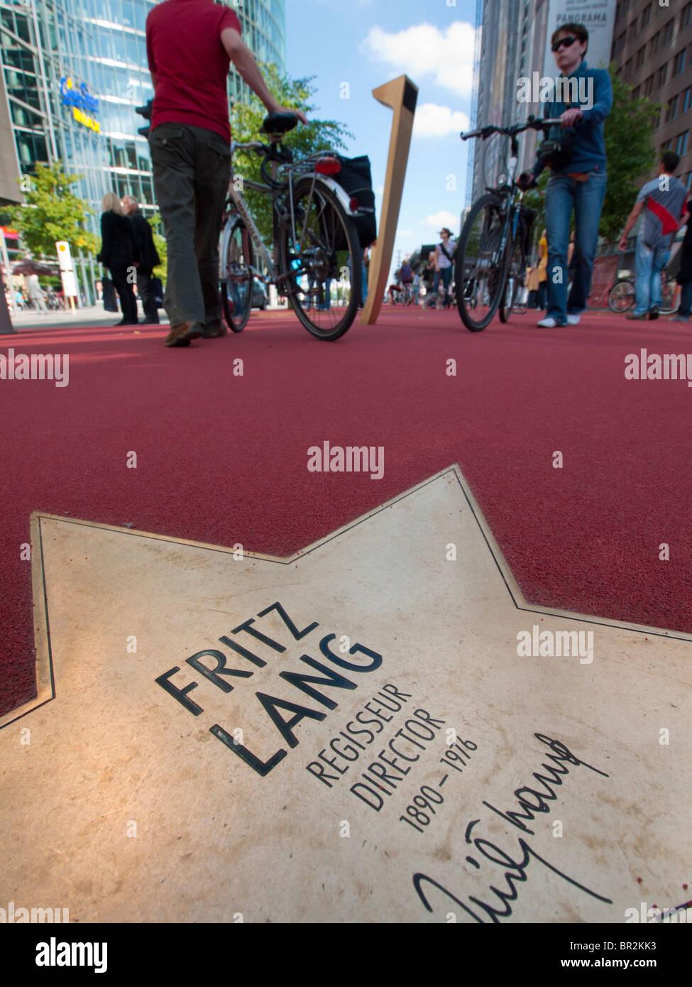 Neuen Boulevard der Stars eröffnet eine spezielle Boulevard-Hommage an Filmstars am Potsdamer Platz in Berlin 10. Stockfoto