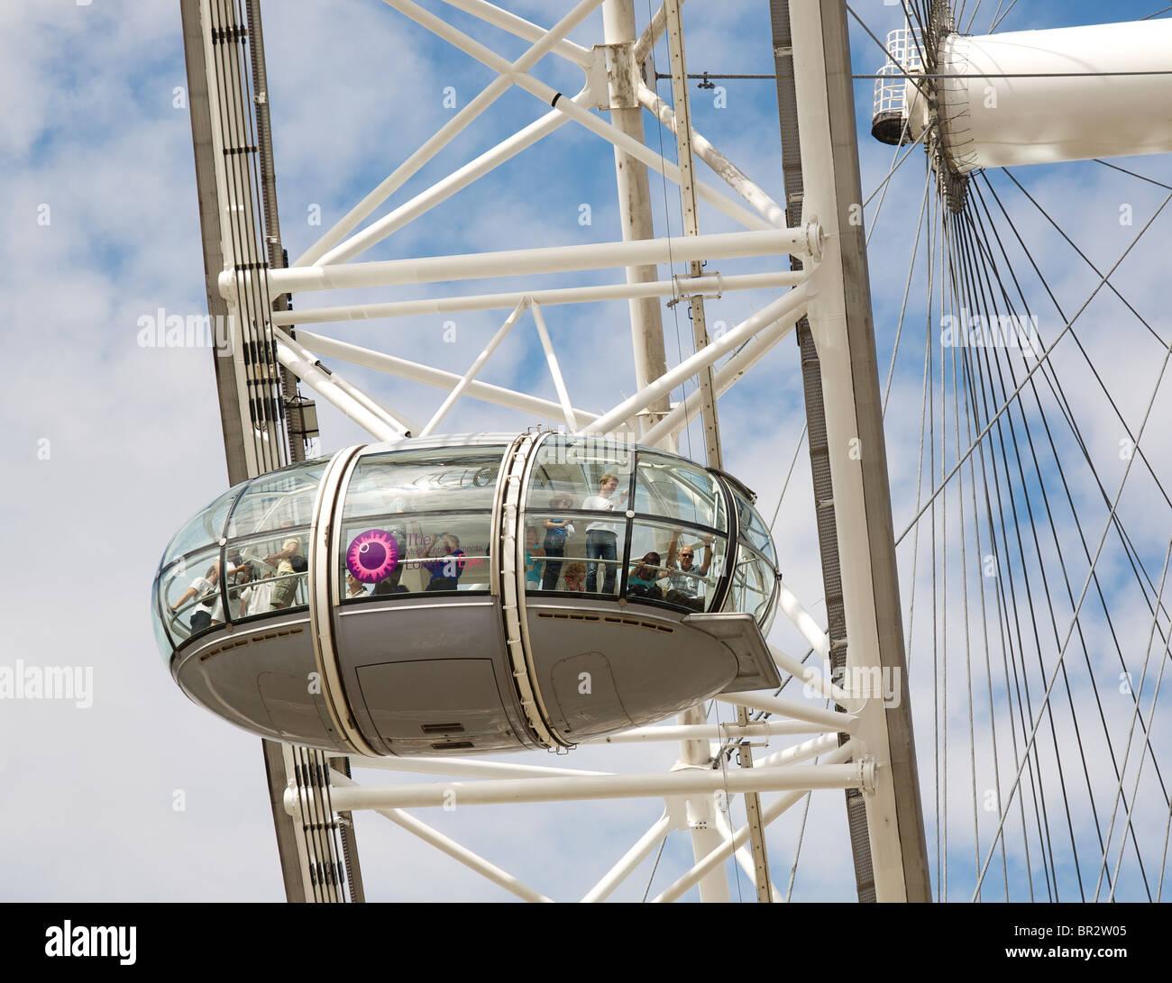 London Eye-Kapsel Stockbild