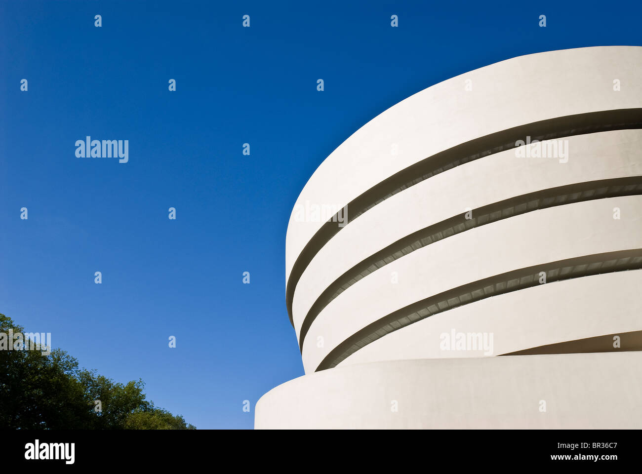 Das Guggenheim Museum, New York City. Frank Lloyd Wright, Architekt. Stockbild