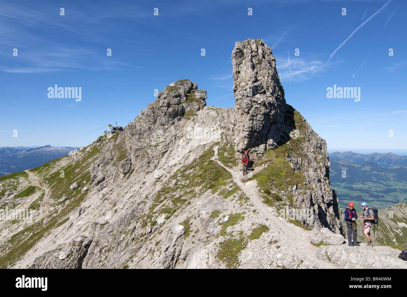 Klettersteig Bayern : Hindelanger klettersteig nebelhorn allgäuer alpen bayern