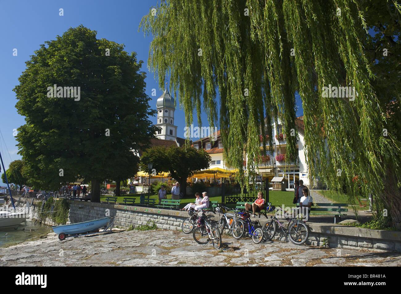 Promenade Wasserburg Bin Bodensee Schwaben Deutschland Europa