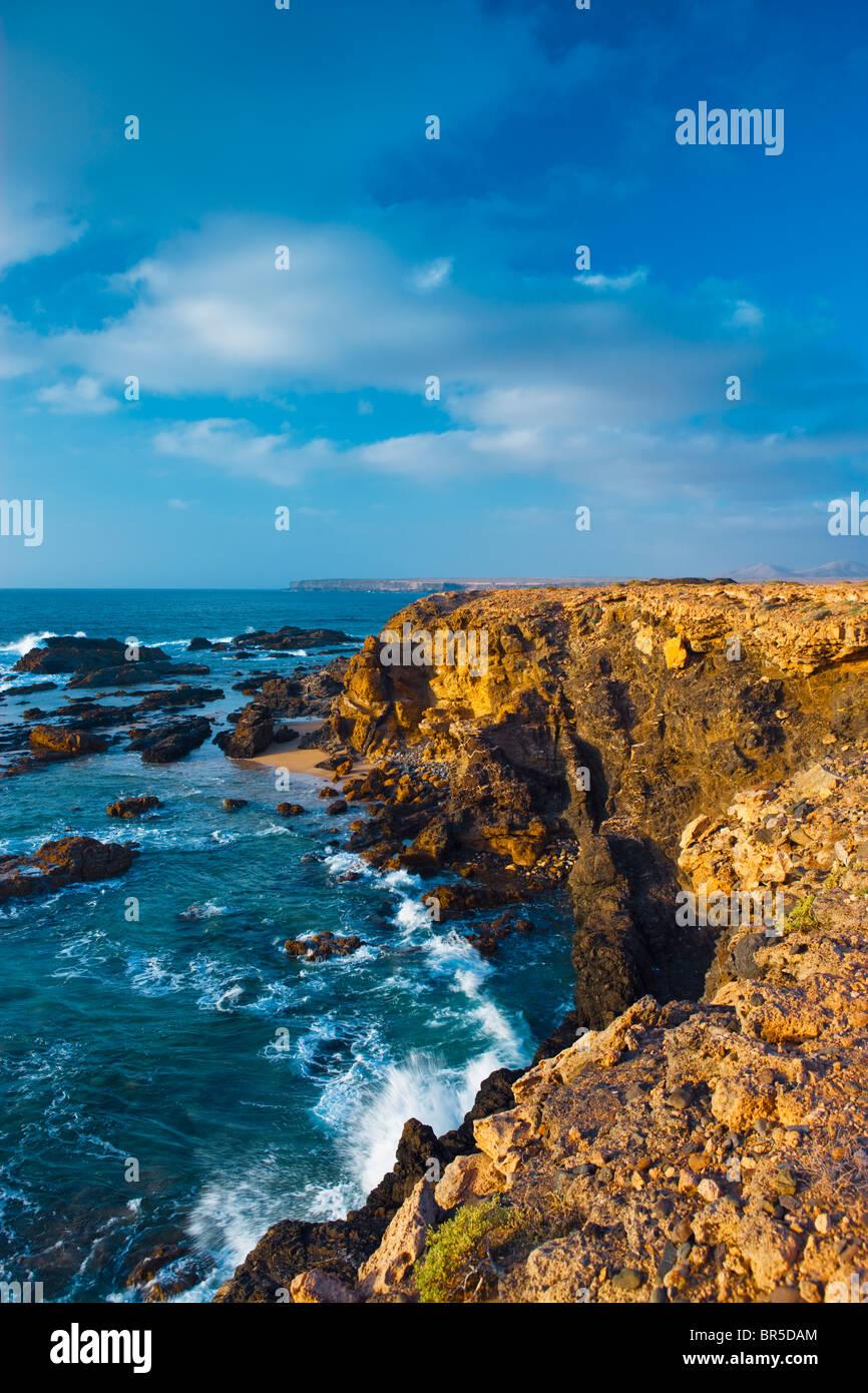 Playa de El Cotillo El Cotillo La Oliva Fuerteventura Kanaren Spanien Stockbild