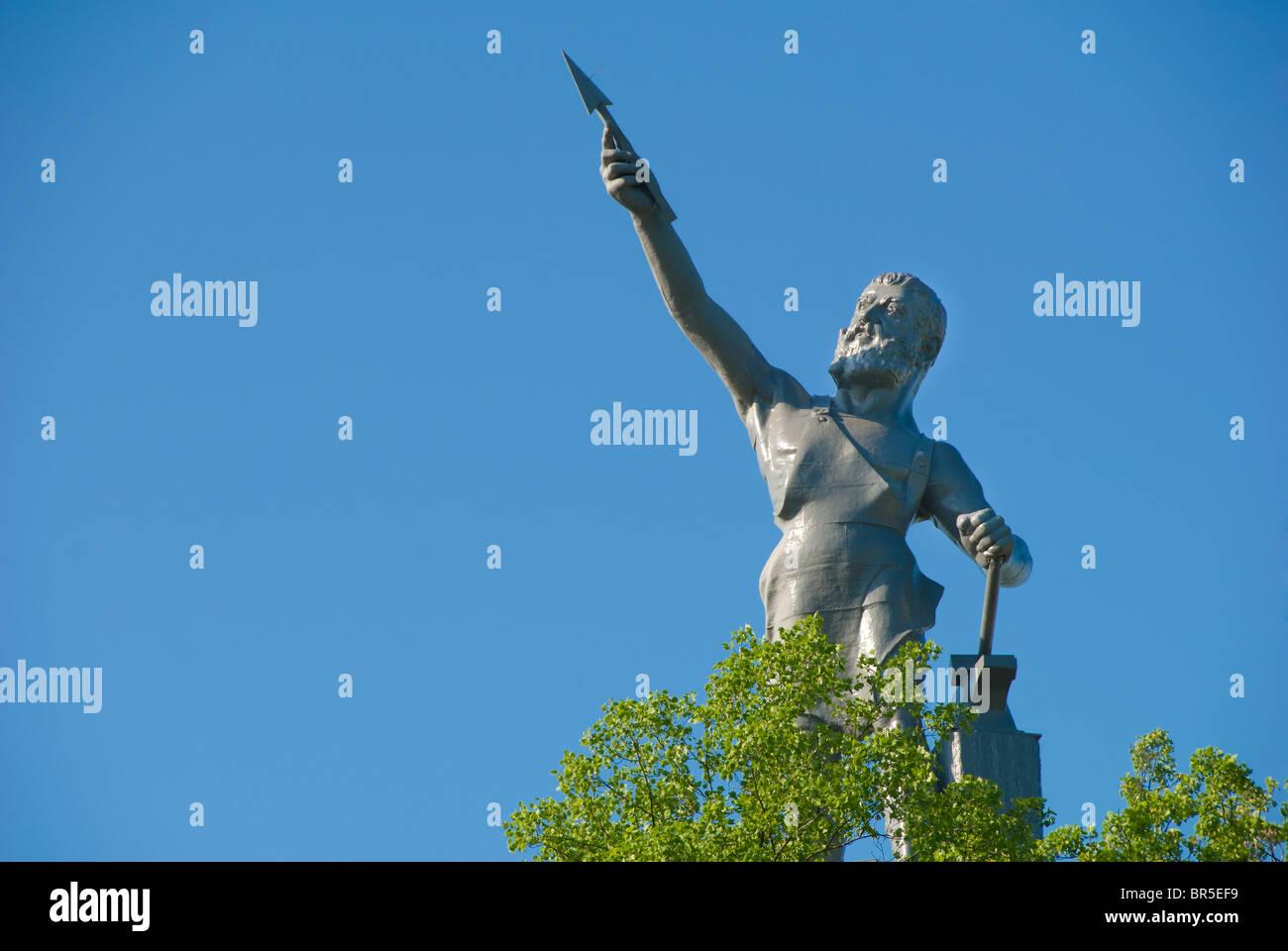 """Vulcan"", designed by Giuseppe Moretti 1904, der weltweit größten gusseisernen Statue in Birmingham, Stockbild"