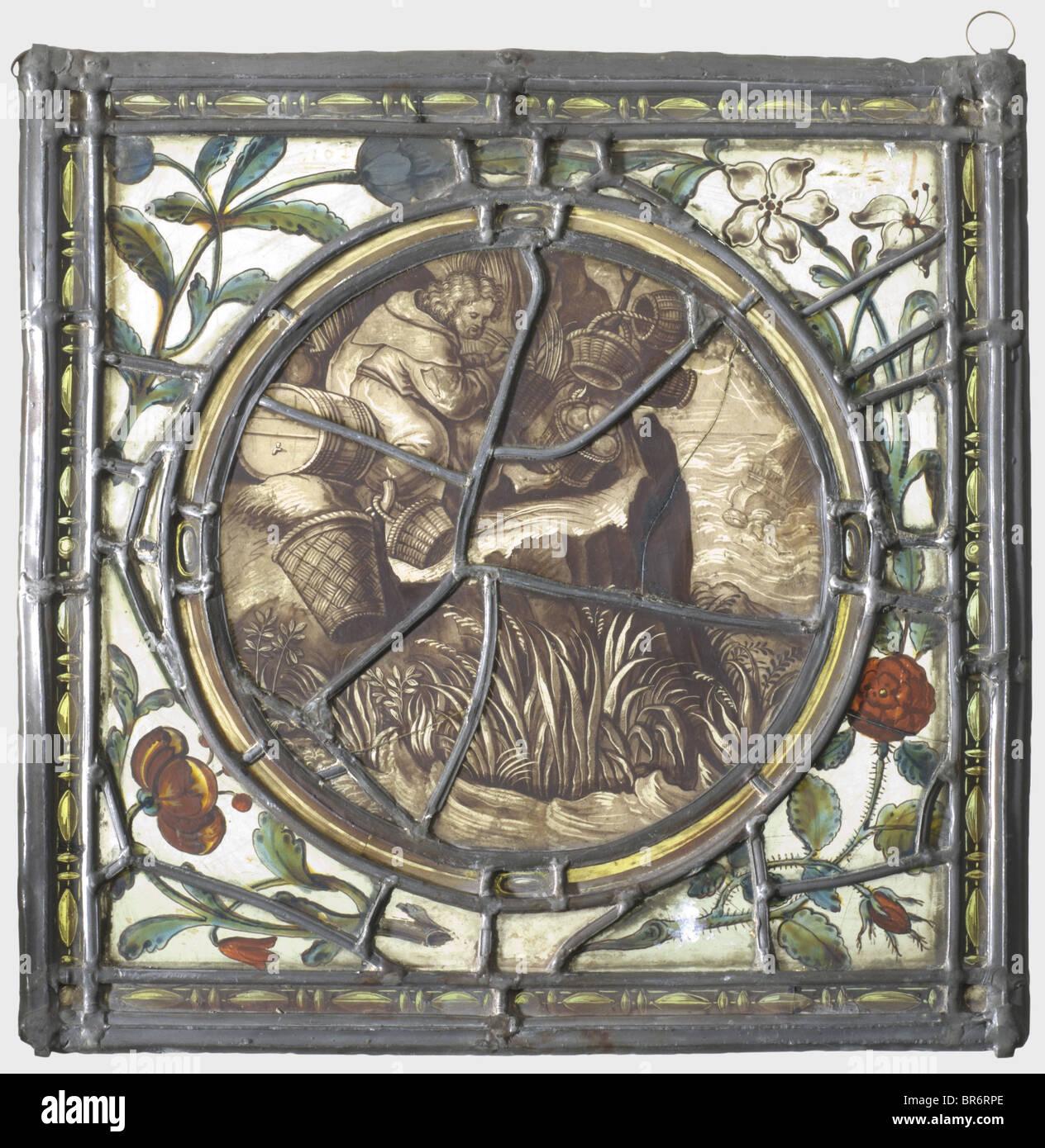 Ein Bleiglas Panel, Deutschland oder der Schweiz, um 1600 ...