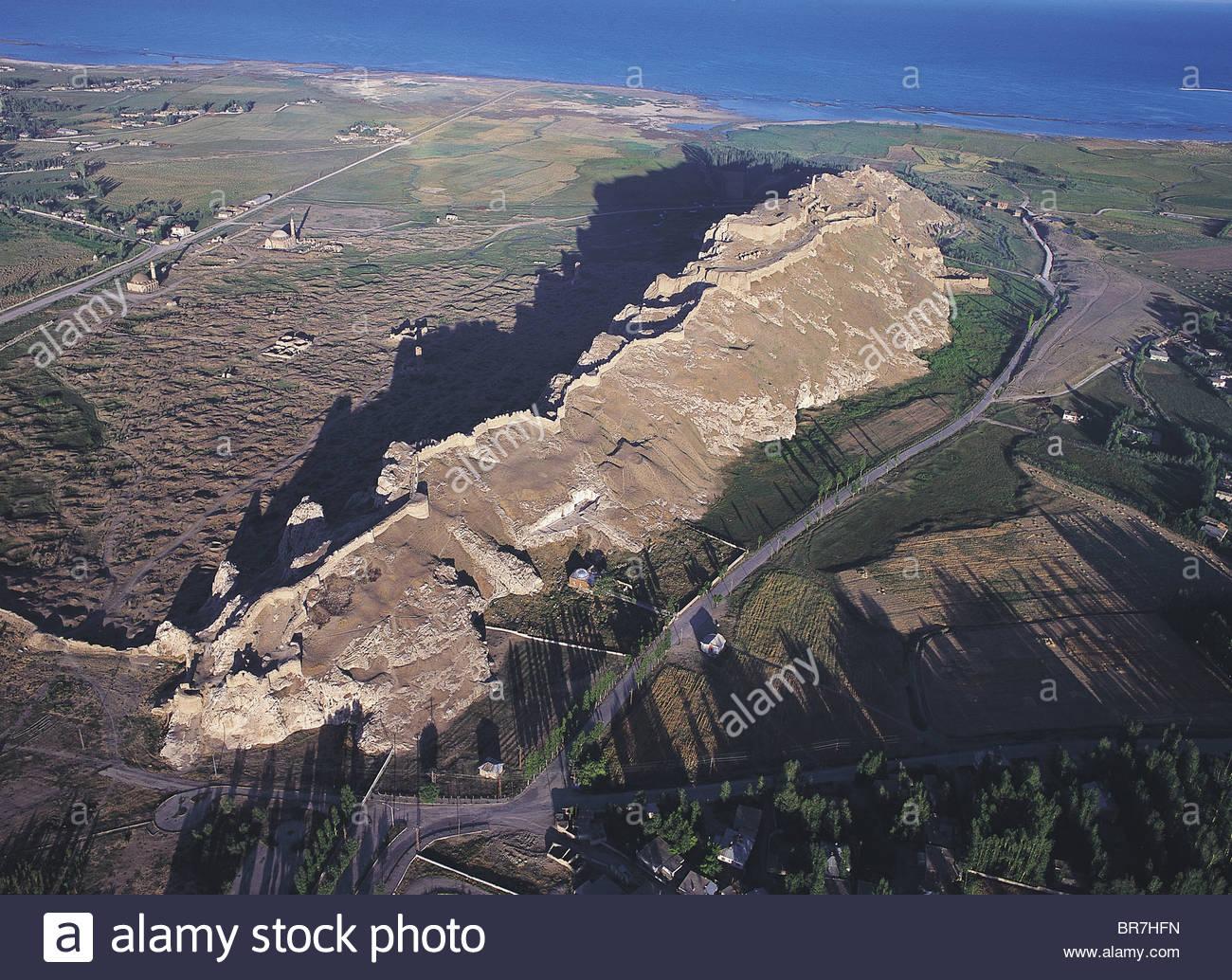 Luftaufnahme des historischen Van Burg, Türkei. Stockbild