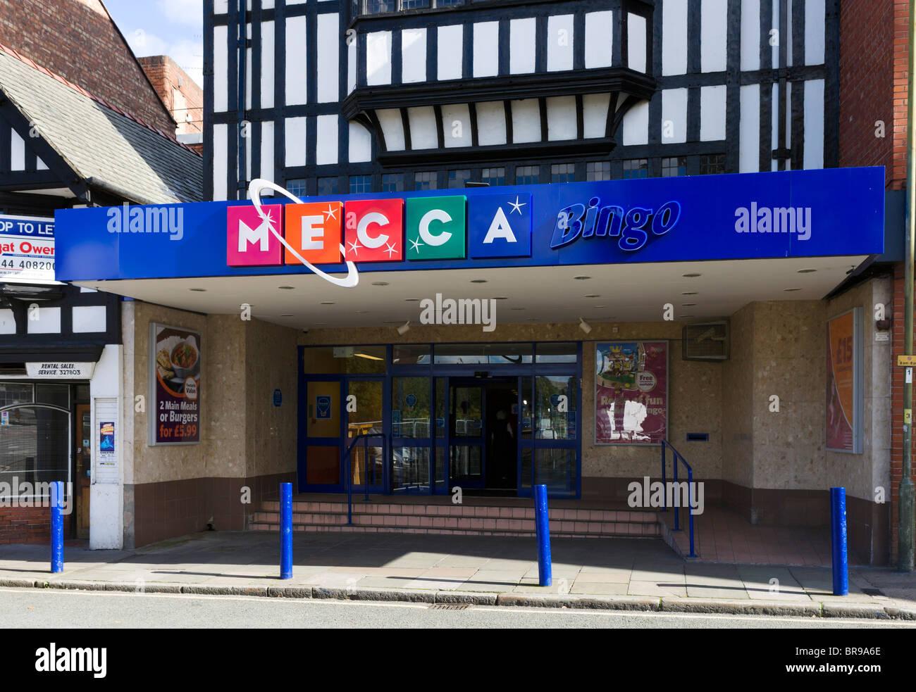 Mecca Bingo-Halle, Chester, Cheshire, England, Vereinigtes Königreich Stockbild