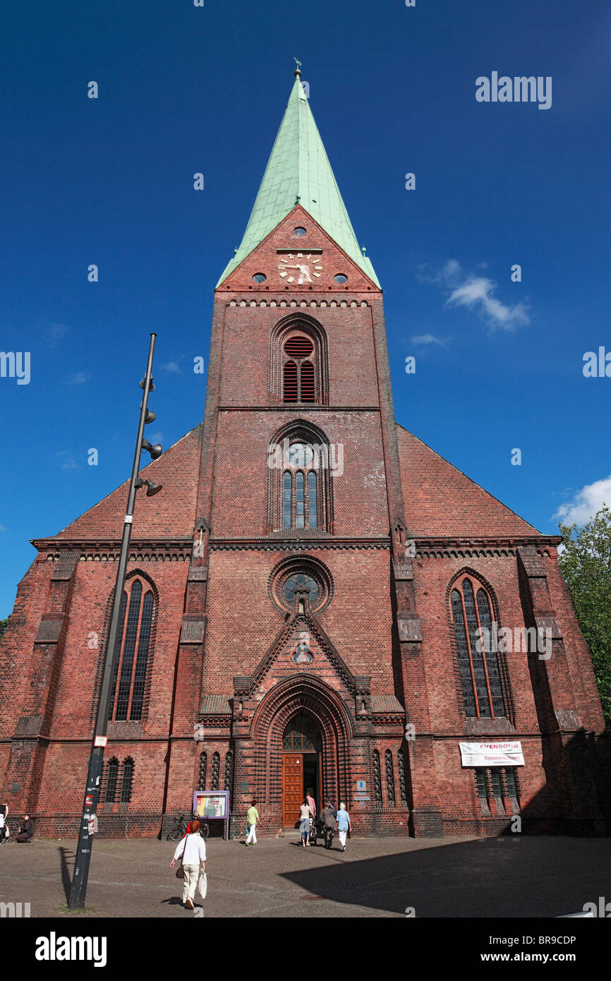 neugotik evangelische st nikolai kirche bin alten markt in kiel kieler foerde ostsee. Black Bedroom Furniture Sets. Home Design Ideas
