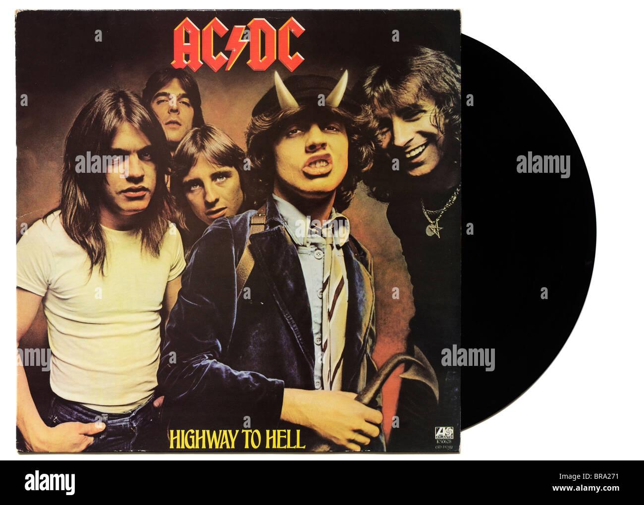 AC/DC Highway to Hell-album Stockbild
