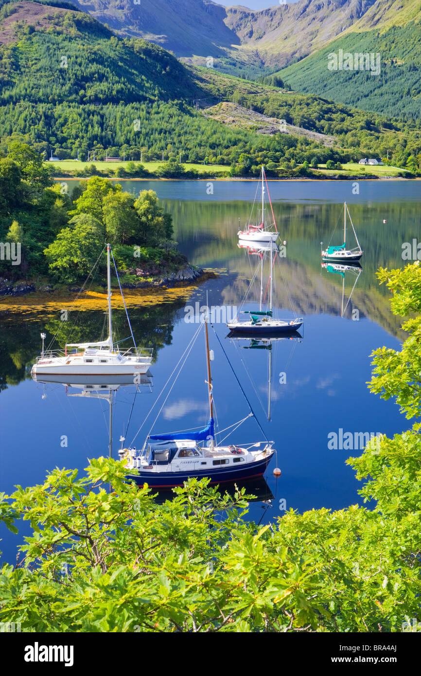 Bischöfe Bay, Loch Leven, Highland, Schottland, Vereinigtes Königreich. Stockbild